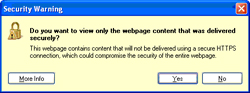 IE8 security warning